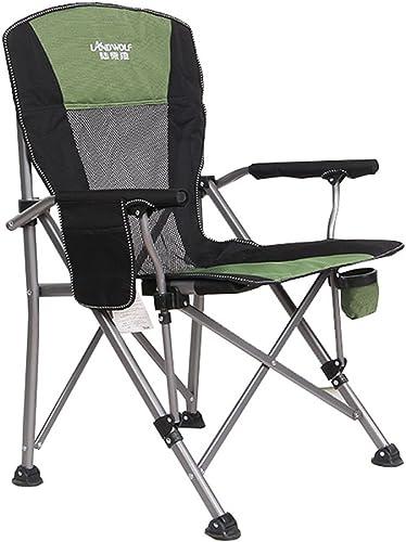 ZDYYCNC Chaise De Camping Pliante,Chaise Pliante Siègehigh Revient avec Pliage Facile Rembourré pour Outdoor Indoor, Armature en Aluminium Léger, Soutien 330lbs