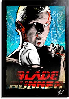 Roy Batty, The Replicant from Blade Runner Movie - Pop-Art Original Framed Fine Art Painting, Image on Canvas, Artwork, Movie Poster