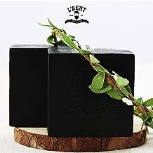 L'BERT Activated Charcoal 100% Natural Organic Handmade Bath Soap - 100 G (Paraben & Sulphate Free), 100 g