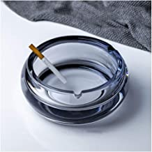 YY&QIANG Standing Ashtray Ash Tray Ornaments Glass Creative Desktop Free Tabletop Living Room Coffee Table Office Househol...