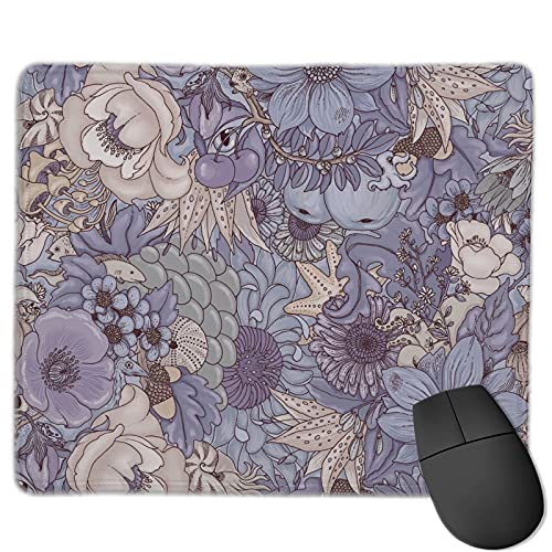 The Wild Side Lavender Ice Variety Face Towel Big Mouse Pad with Stitched Edge 15.8 X 29.5 Inches Superfine Textured Mouse Mat Nonslip Rubber