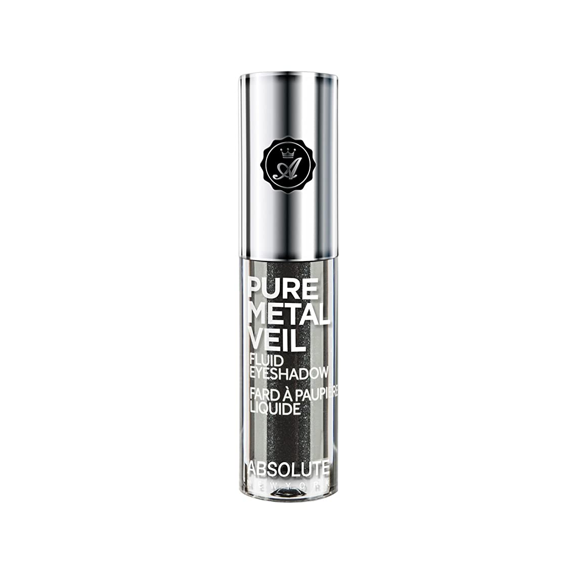修士号騒乱定期的ABSOLUTE Pure Metal Veil Fluid Eyeshadow - Gunmetal (並行輸入品)