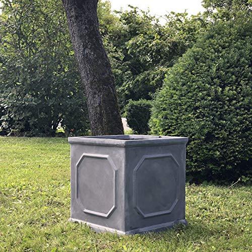 L'ORIGINALE DECO Grande Jardinière Bac Jardiniere Pot à Plantes Arbre de Jardin d'Entrée Carré Vase Vasque Medicis 45 cm x 43.50 cm