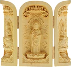 sharprepublic Buddhism Statues Kwan-Yin Statue Statute of God Carved 3 Wood for Collector - Style-5, as described
