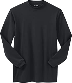 KingSize Men's Big & Tall Mock Turtleneck Long-Sleeve Cotton Tee