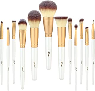 Matto Makeup Brushes 12 Piece Makeup Brush Set for Foundation Powder Mineral Eye Shadow Face Make Up Brushes