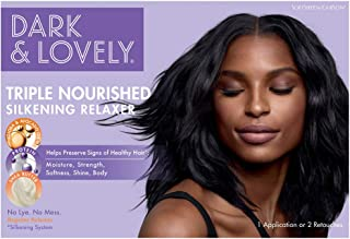 SoftSheen-Carson Dark and Lovely Triple Nourished Silkening Relaxer No-Lye Regular Strength with Shea Butter, Jojoba and A...
