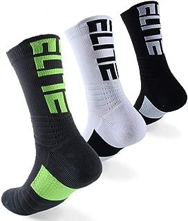 BEYONG Elite Basketball Socks, Dri-Fit Athletic Crew Sport sock for Men Women