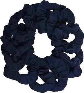 12 Pack Solid Hair Ties Scrunchies - Navy
