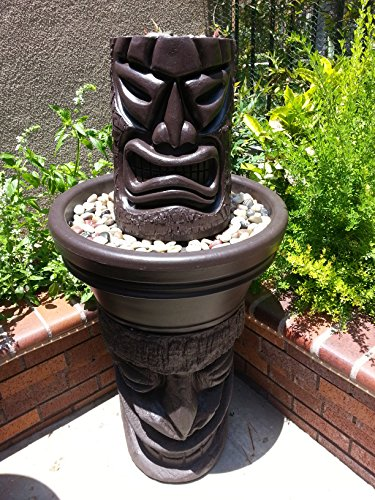 Angry Tiki Fountain W/ Happy Tiki Base (Coco)