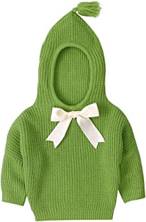VduanMo Little Girls Ruffle Collar Crimping Pullover Sweater Shirt