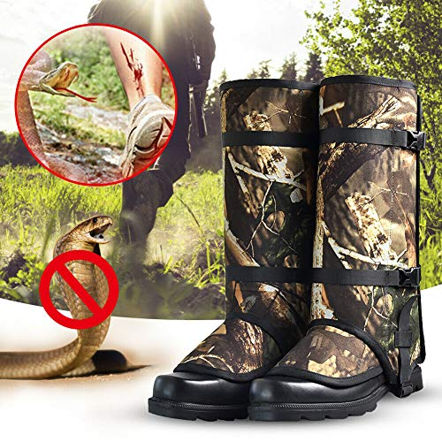 Rockputtee Snake Guardz Gaiters Snake Shield Protects Against Anti-Snake Bites Rattlesnakes Waterproof for Hunting, Camping, Hiking, Outdoors, Camouflage