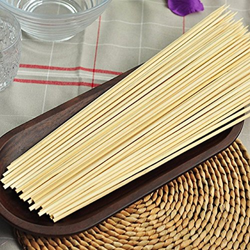 CandyHome SBL-013 Bamboo Skewers Grill Shish Kabob Wood Sticks, y-300