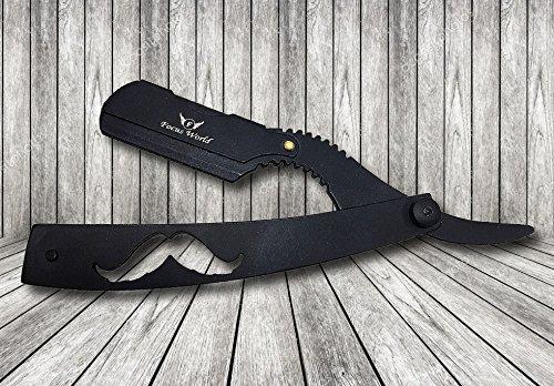 De Focus World Barber Rechte Scheren Swing Lock Razor Kit met Lederen Reistas Een geschenk voor Mannen Mannelijke Verzorging Present