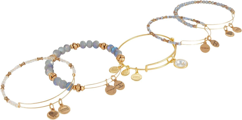 Alex and Ani Crystal Blue Bracelets, Set of 5