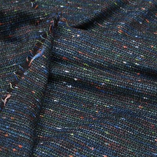 kawenSTOFFE Tweedstoff schwarz blau grün rot meliert Mittelalter Anzug Meterware