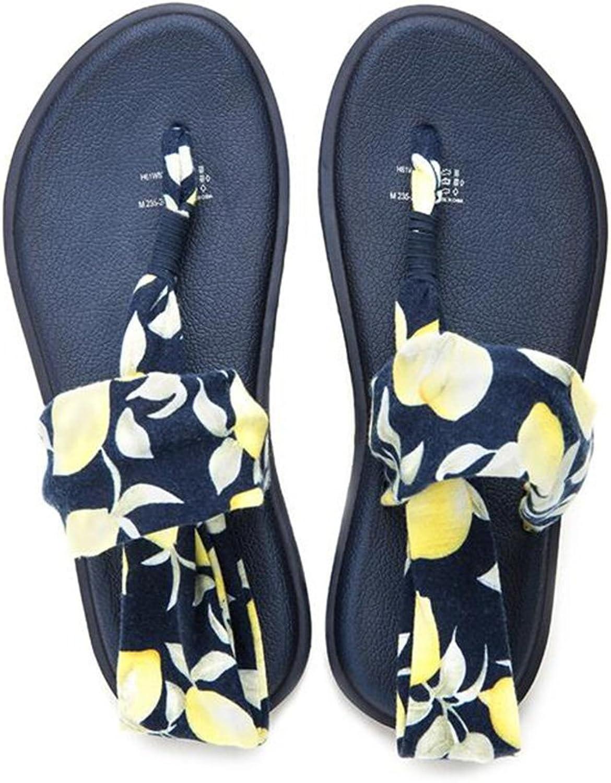 CJC Women's Summer Beach shoes Bohemia Satin Platform Slipper (Size   EU39 UK6 CN39)