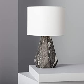 LEDKIA LIGHTING Lampe à Poser Vinyl 420xØ255 mm Blanc & Noir E27 Céramique pour Décoration Salon, Chambre, Cuisine