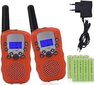 LLDKA Puissance Talkie-walkie est Mince et Machine l/ég/ère Micro Petite Main sans Fil /équipement de Plein air pour Les Enfants 2,Noir