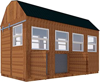 Poultry Chicken Coop Plans DIY Backyard Barn Hen House Cage with Run 8' x 16'