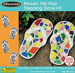 Mosaic Flip Flop Stepping Stone Kit