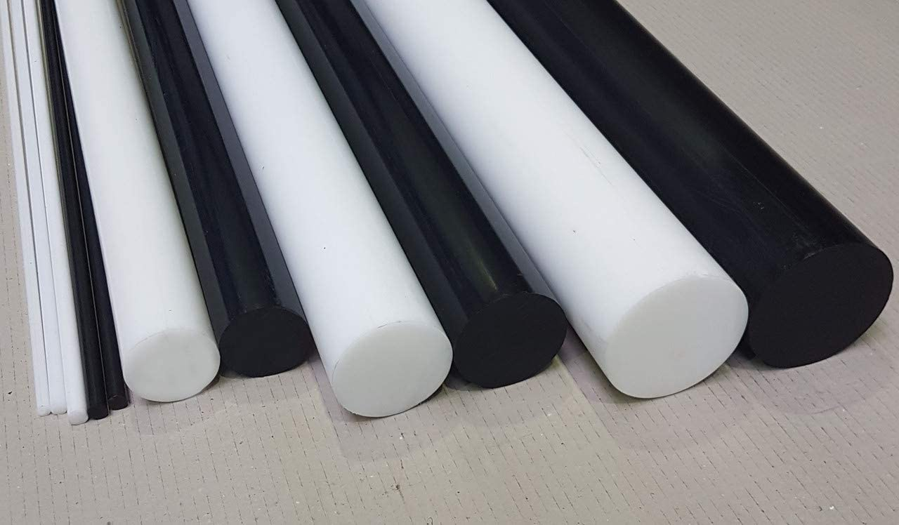 POM Rundstab Rundmaterial Kunststoff ⌀ 10mm L= 500-2000mm schwarz 500 mm