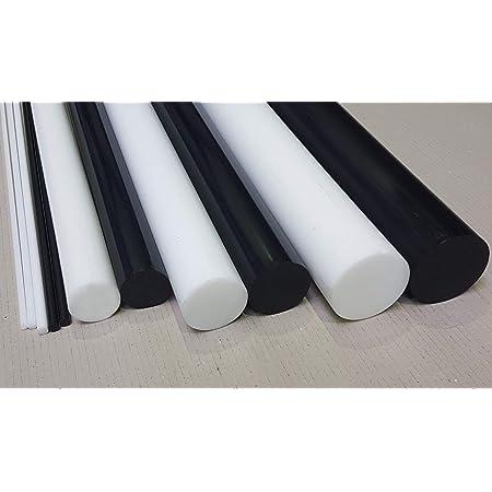 L: 500mm PVC Rundstab grau /Ø 20mm PVC-U Kunststoffstab auf Zuschnitt 50cm