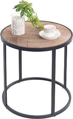 Massivholz Tisch Beistelltisch Teetisch oval 57 Holz
