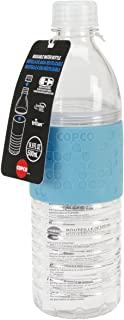 Copco 2510-2291 Hydra Reusable Tritan Water Bottle with Spill Resistant Lid and Non-Slip Sleeve,  16.9-Ounce,  Light Blue