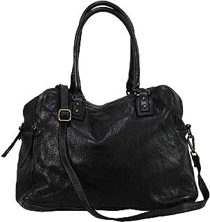 BZNA Bag Lue schwarz Italy Designer Messenger Damen Handtasche Schultertasche Tasche Leder Shopper Neu