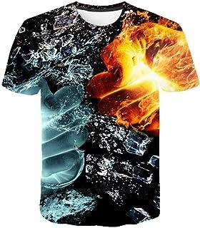 3D T-Shirt Summer 3D Printed Injured Finger Graphic t shirts Short Sleeve Summer Casual Tops Tees Fashion Black Tshirt-S
