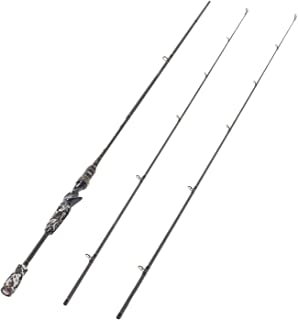 Entsport E Series - Camo Legend 2-Piece 7-Feet Casting Rod 24 Ton Carbon Fiber Baitcasting Fishing Rod with 2 Tips - Medium and Medium Heavy Portable Baitcast Rod Bass Fishing Rod Baitcaster