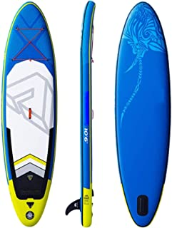 XIGG Inflatable Stand up Paddle Board Surfboard SUP Board with Free SUP Accessories Non-Slip Deck Adjustable Paddles Botto...