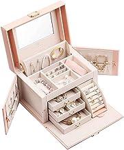Vlando Mirrored Jewelry Box Organizer for Girls Women