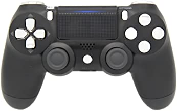 Black & Silver Chrome Modded PS4 Rapid Fire Controller, Works With All Games, COD, Rapid Fire, Dropshot, Akimbo & More
