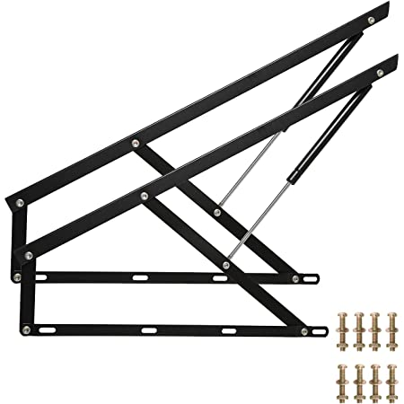 35 Homend Pair of FT Pneumatic Storage Bed Lift Mechanism Heavy Duty Gas Spring Bed Storage Lift Kit for Box Bed Sofa Storage Space Saving DIY Project Lifter Lift Up Hardware 0.9M
