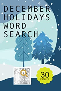 December Holidays word search puzzle book: undefined