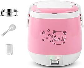 YSYSPUJ Elektrische kookpan 1,5 l elektrische rijstkoker draagbare koken stoom multifunctionele voedselcontainer soeppan v...