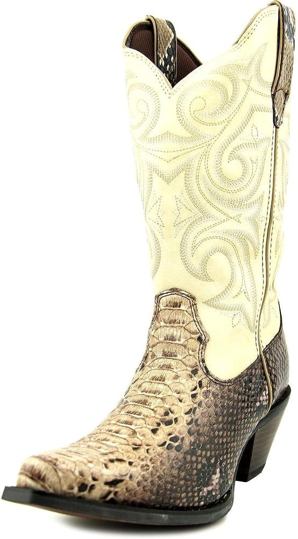Durango Women's Crush Western Scalloped Snake Print Cowgirl Boot Snip Toe