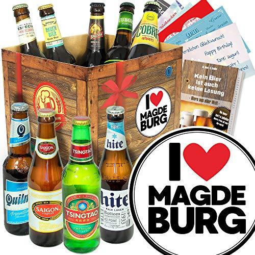 I love Magdeburg - Magdeburg Geschenk - Bier Geschenk - Biere der Welt