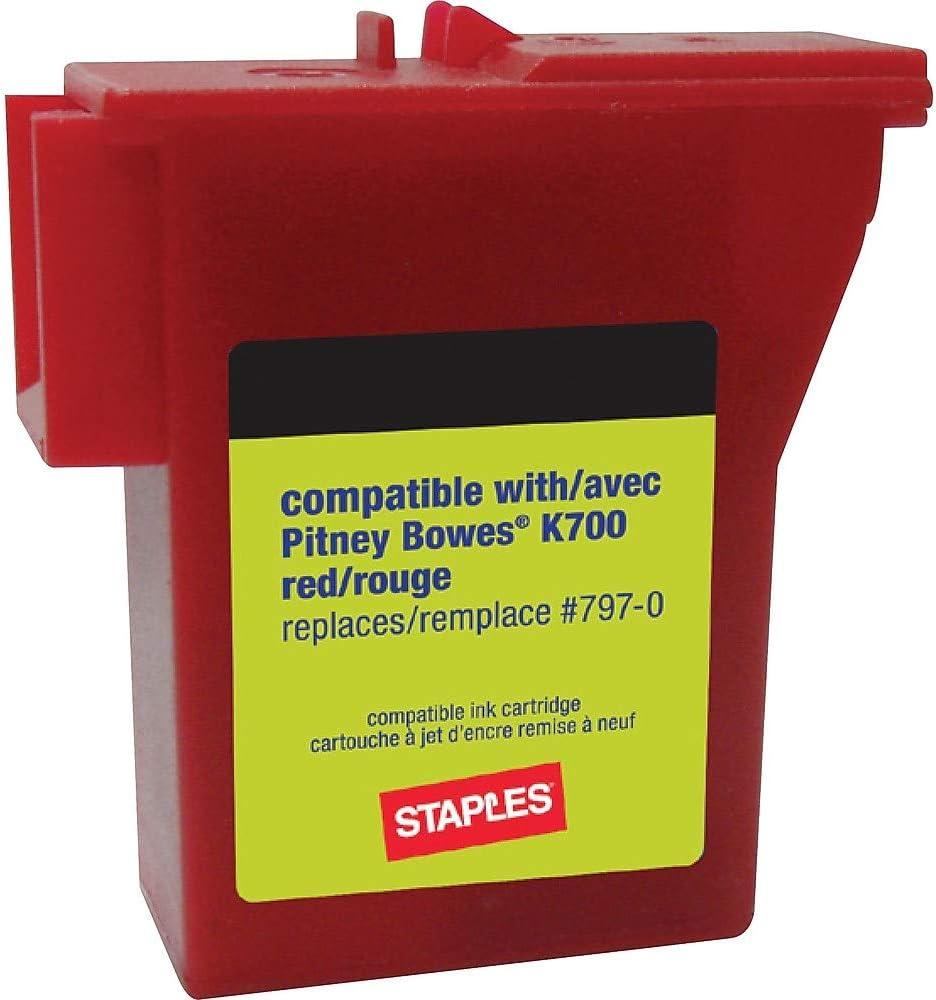 Mail order Staples safety 756927 K700 Postage Meter Mailstation Ink for Cartridge