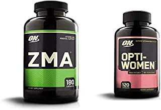 OPTIMUM NUTRITION ZMA, Zinc for Men and Women, Zinc and Magnesium Supplement & Opti-Women, Vitamin C, Zinc and Vitamin D f...