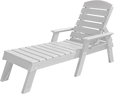 Frog Furnishings Pensacola Chaise Lounge, White