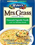Mrs. Grass Homestyle Vegetable Noodle with Chicken Broth (4.2 oz Cans, Pack of 12)