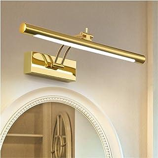 Creative 41/55/70cm Mirror Front Lights American Golden Luxury Home Bathroom Waterproof Anti-Fog Bedroom Dressing Table Le...
