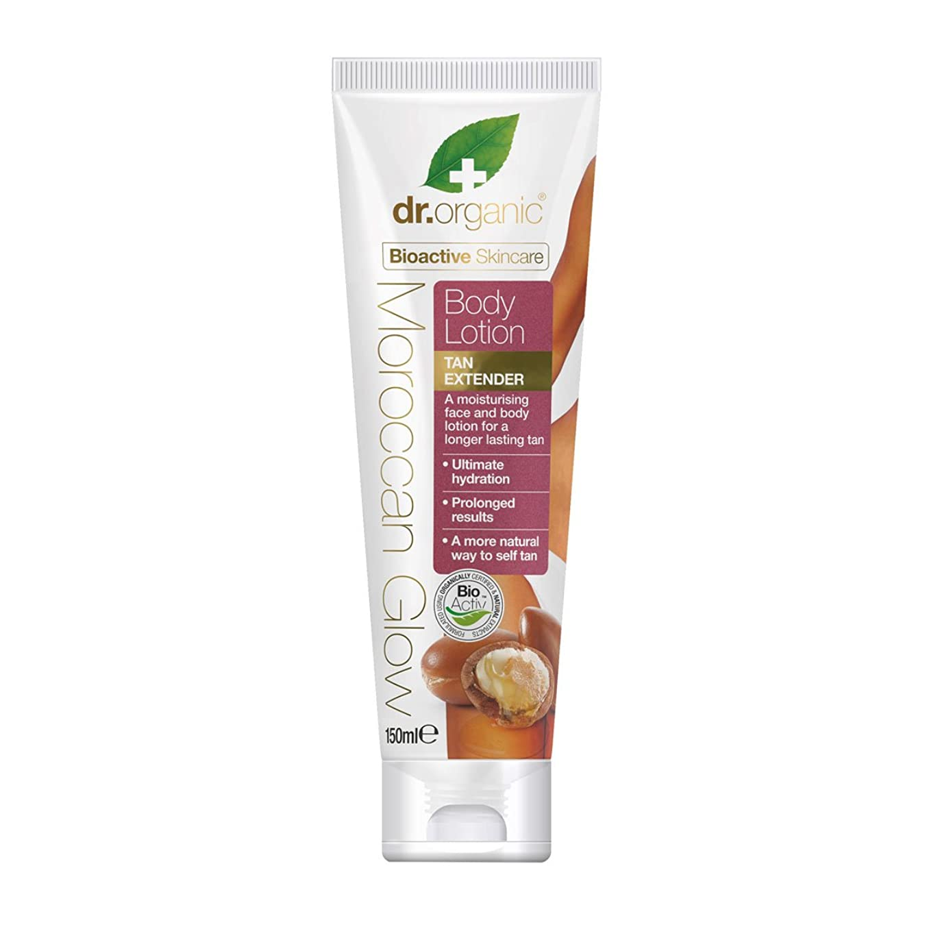 マガジン征服する犯人Dr.organic Organic Moroccan Oil Body Lotion Tan Extender 150ml [並行輸入品]