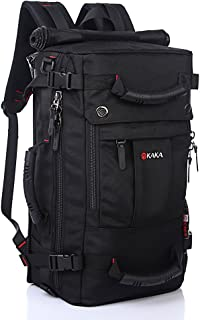 KAKA Wandelrugzak 40L grote waterdichte reizen wandelen camping outdoor rugzak dagrugzak voor mannen en vrouwen, zwart