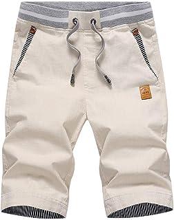 XBTECH Mens Shorts,Mens Summer Casual Shorts with Pockets Elasticated Waist