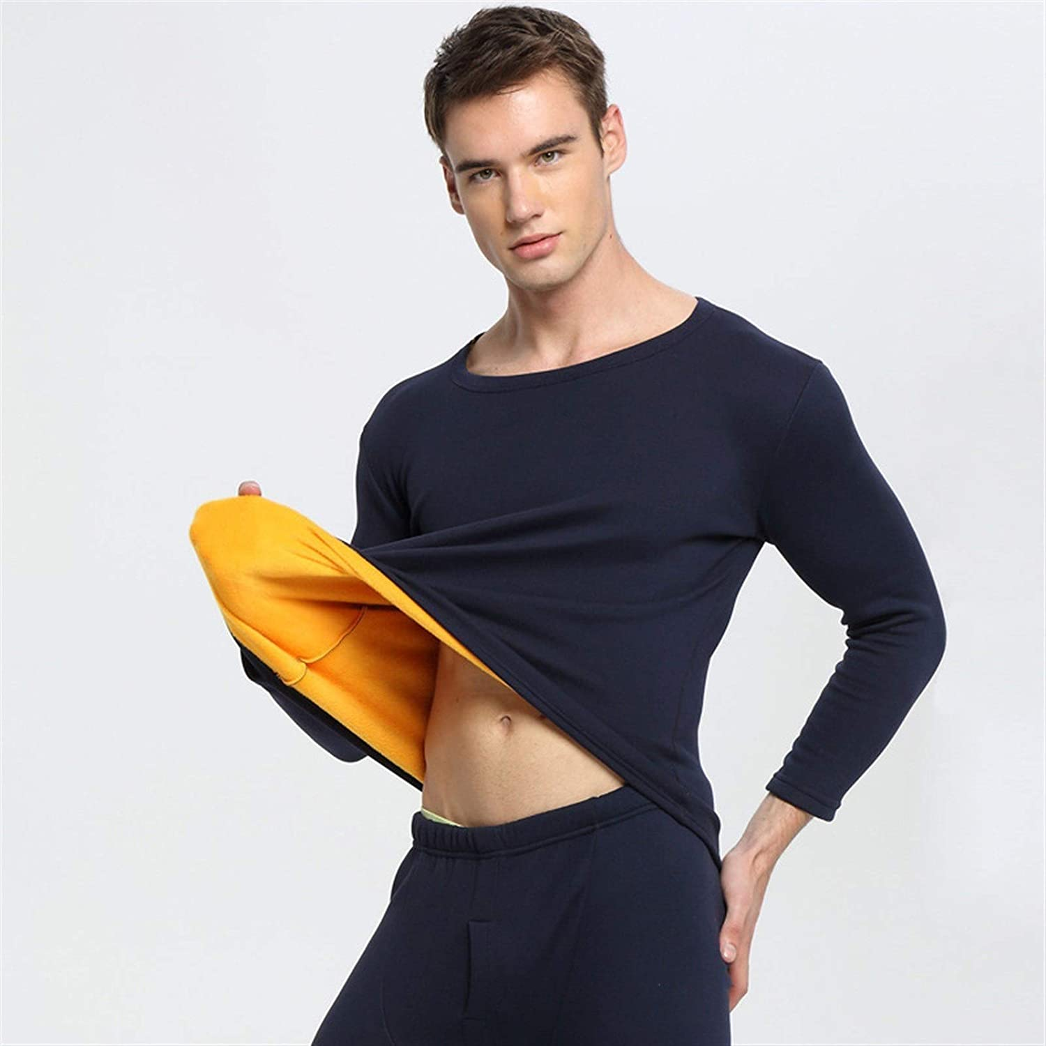 ZHANGZEHONG Thermal Underwear Men Winter Women Long Johns Sets Fleece Keep Warm in Cold Weather Size L to 6XL (Color : Menblack, Size : XXXX-Large)