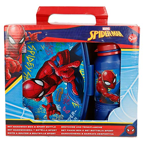 ACC SPIDER-MAN (GRAFFITI) SET PORTA MERENDA + BORRACCIA SPORT 420M